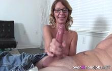 Sexy MILF gives hardcore POV handjob