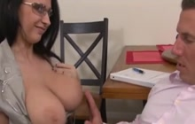 Great blowjob by horny MILF