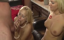 Step daughter and MILF share a dick