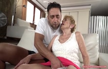 Ugly old bitch fucked by a stud