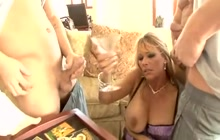 Housewife drilled by several cocks
