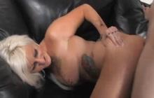 Tattooed Lana Phoenix takes it in the ass