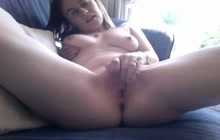 Amateur MILF masturbating all day