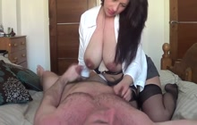 Lactating MILF with her hubby