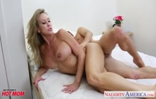 Busty cougar Brandi Love seduces son's friend