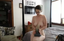 Nasty MILF with big tits in solo play