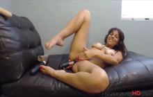 Nasty MILF plays with toys on cam