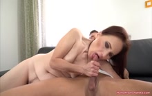 Free porno preview showing Old slut ravished by a horny stud